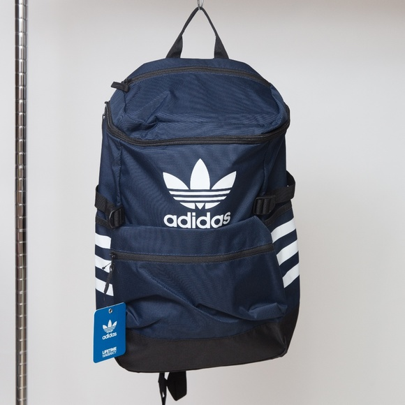 87074d254a Adidas Trefoil Backpack Navy and White